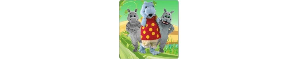 Hippos Costumes Mascot Running Figures Promotion Event Production Comp
