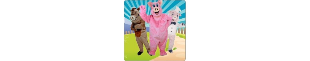 Pigs costumes from plush for your promotion event fair mascot