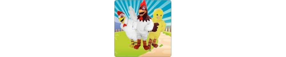 Rooster & Turkey & Hen Costumes Plush promotion event Mascot