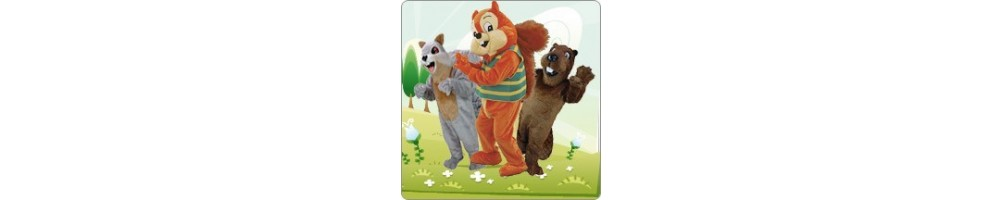 Beaver & Squirrel Costumes Mascot Running Figures Promotion Event Show