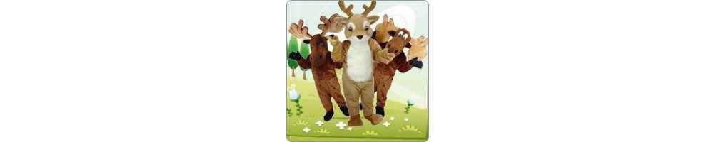 Moose & Roe Costumes Mascot Running Figures Promotion Event Show