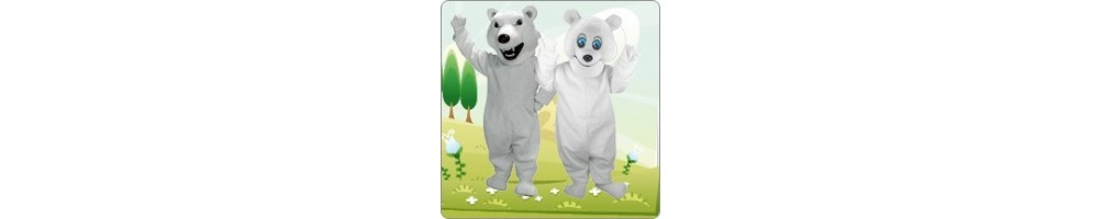 Polar Bear Costumes Mascot Running Figures Promotion Event Show