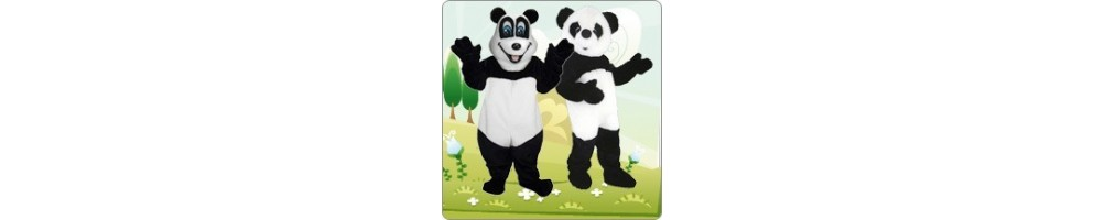 Panda Costumes Mascot Running Figures Promotion Event Show