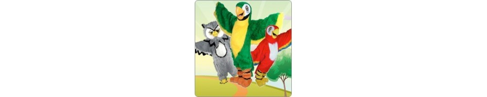 Parrot & Owl Costumes Mascot Running Figures Promotion Event Show