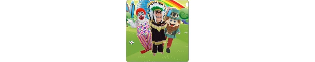 Clown & Indians & Troll Costumes Plush promotion Fair Event Mascot