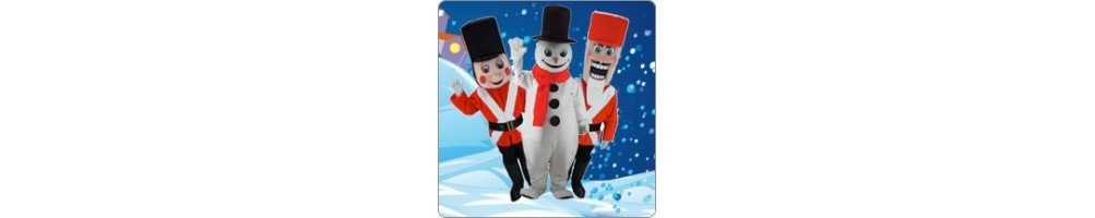 Snowman & Nutcracker Costumes Mascot Running Figures Promotion Event P