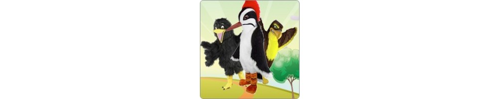 Hawk & Raven & Woodpecker Costumes Mascot Running Figures Promotion Ev