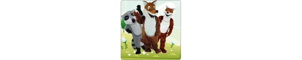 Badger & Fox Costumes Mascot Running Figures Promotion Event Show