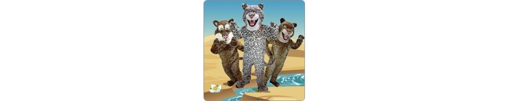 Jaguar & Leopard Costumes Mascot Running Figures Promotion Event