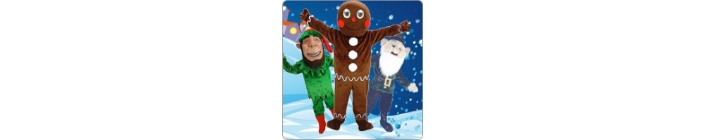 Christmas Figures Costumes Mascot Running Figures Promotion Event Prod