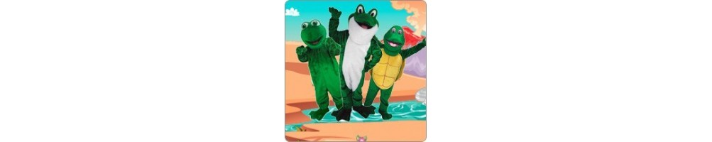 Frog & Turtle Costumes Mascot Running Figures Promotion Event Show