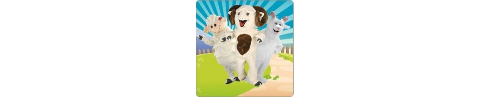 Sheep & Goats & Aries Costumes Plush promotion event Mascot