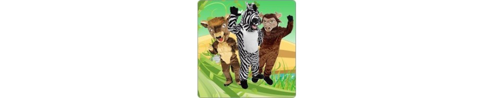 Bison and Buffalo & Zebra Costumes Mascot Running Figures Promotion