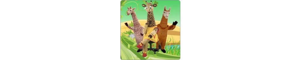 Giraffe & Lama Costumes Mascot Running Figures Promotion Event Product