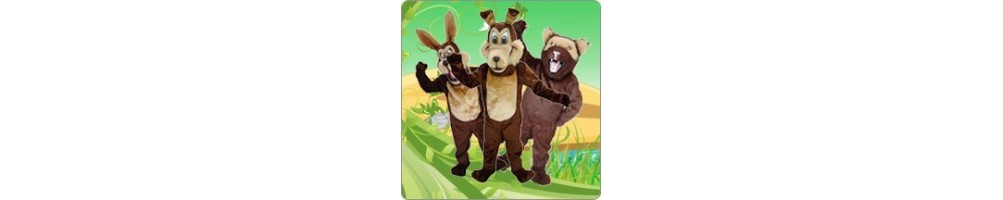 Coyote & Jackal Costumes Mascot Running Figures Promotion Event Produc