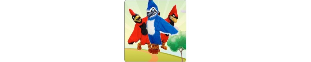 Bird Blue or Red Costumes Mascot Running Figures Promotion Event Fair
