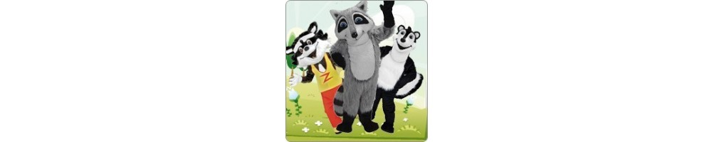 Skunk & Raccoon Costumes Mascot Running Figures Promotion Event Show