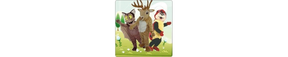 Forest Mix Costumes Mascot Running Figures Promotion Event Show