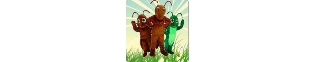 Ants and Grasshopper Costumes Mascot Running Figures Promotion Event