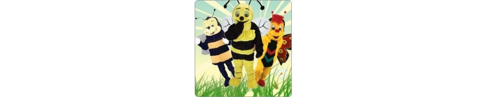 Bees & Butterflies Costumes Mascot Running Figures Promotion Event