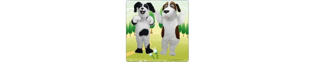 Dog (light / spotted) Costumes Mascot Running Figures Promotion Event