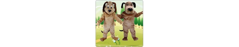 Dog (brown) Costumes Mascot Running figures Promotion Event Production