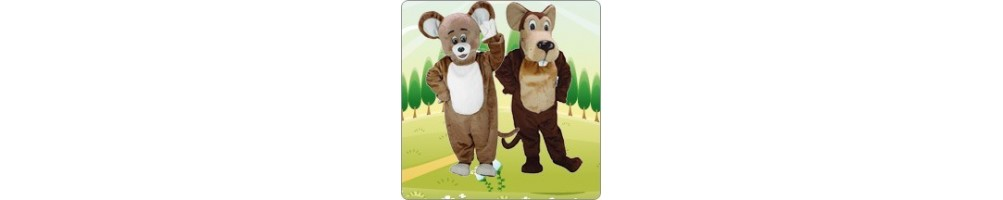 Mice (brown) Costumes Mascot Running Figures Promotion Event