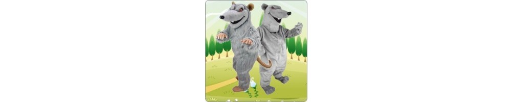 Rats Costumes Mascot Running Figures Promotion Event