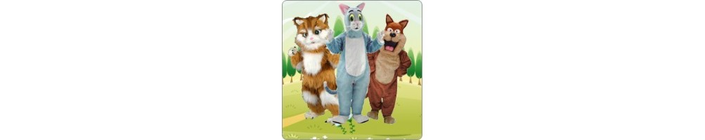 Cat Costumes Mascot Running Figures Promotion Event