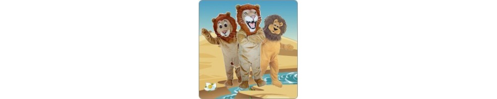 Lion Costumes Mascot Running Figures Promotion Event Production Compan