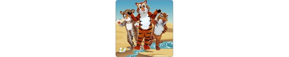 Tiger Costumes Mascot Running Figures Promotion Event Production Compa