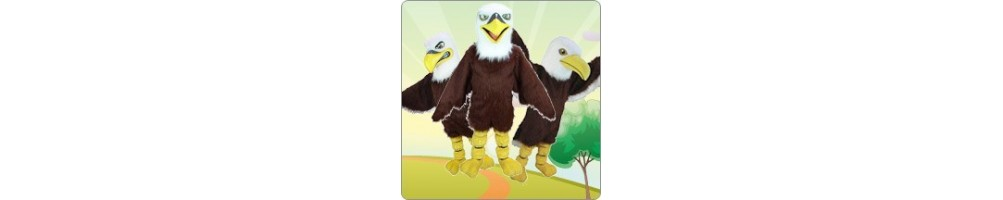 Eagle Costumes Mascot Running Figures Promotion Event Show